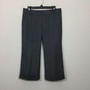 J.Crew Size 6 Gray City Fit Capri Cuffed Pants